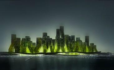 Ciudad flotante que transforma, a través de algas, CO2 en biodiesel