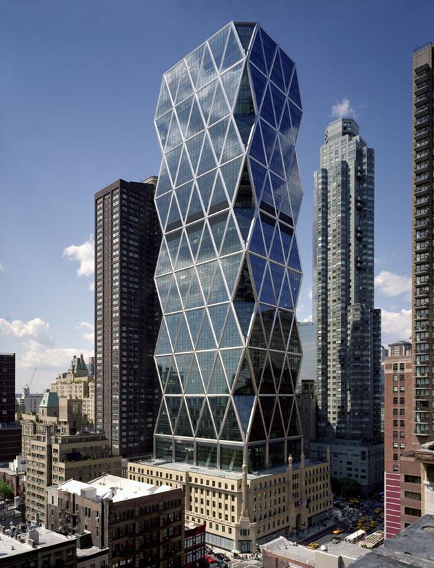 Torre hearst el primer rascacielos verde de ny abilia i for New york architettura contemporanea