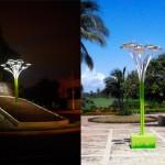 Iluminan 'árboles solares' al Centro Histórico