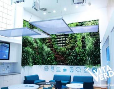 Jardín vertical en unas oficinas de Tesalónica