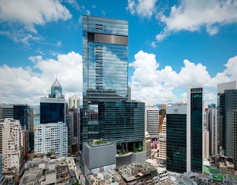 Hysan Place, primer edificio precertificado LEED Platino en Hong Kong