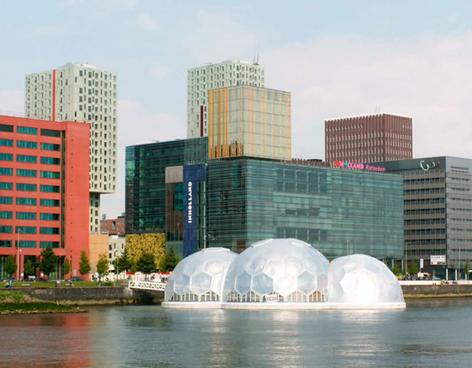 Pabellón flotante auto-sustentable en Rijnhaven, Rotterdam