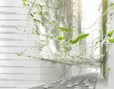 Propuesta Bio-City hace crecer grandes enredaderas para eliminar la contaminación del futuro