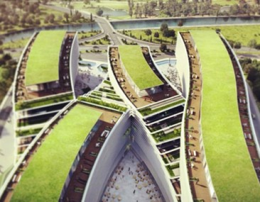 Kagithane Gardens: Oficinas con grandes techos verdes para Estambul