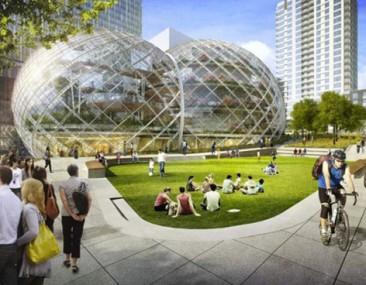 NBBJ propone bio-domos para las oficinas centrales de Amazon en Seattle
