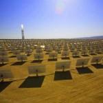 El proyecto solar Brightsource en California, Estados Unidos.