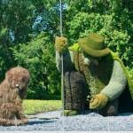 Asombrosas esculturas verdes en Montreal