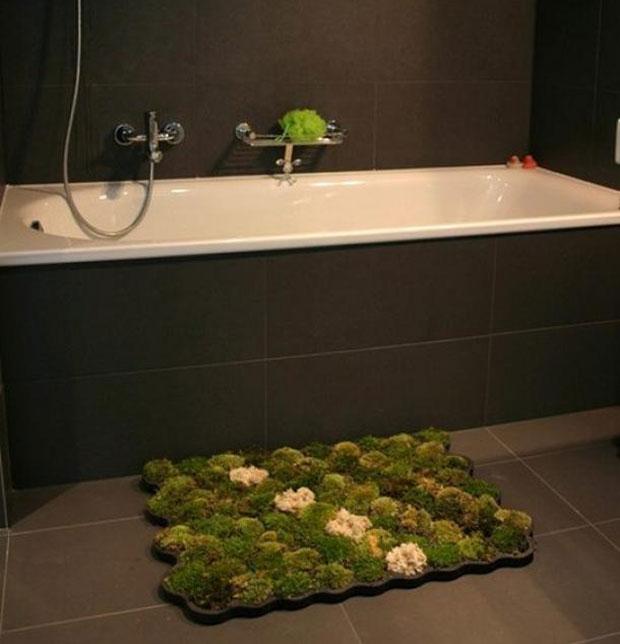 """""""Moss Carpet"""": alfombra de musgo para el baño"""