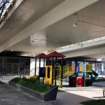 México DF transforma bajo puentes en plazas públicas