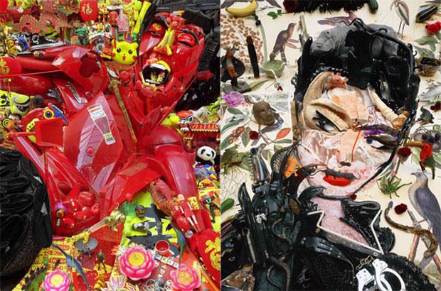Pop Art en 3D hecho con material reciclado