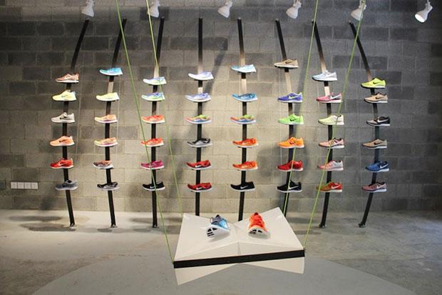 Nike Store en Shangai construido con residuos reciclados