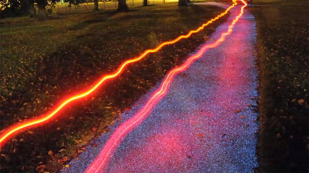 Senderos iluminados sin electricidad