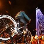Encienden Bici-árbol navideño en Polanco