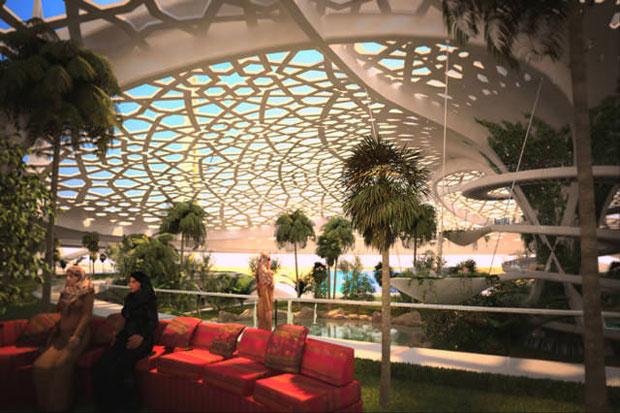 Oasis botánico autosostenible en la mitad del desierto