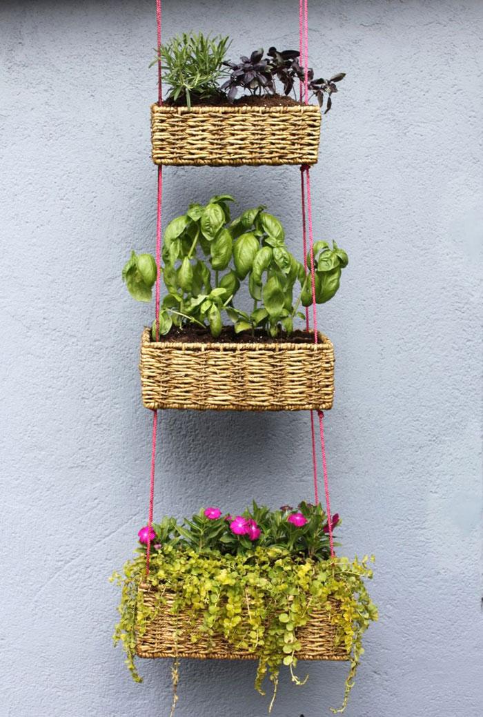 Jardines miniatura con materiales caseros