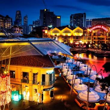 Un centro comercial naturalmente acondicionado: Clarke Quay