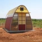 Casa sostenible que se construye en un día