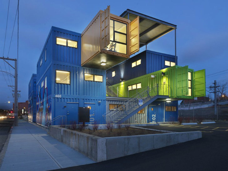 Box office oficinas con contenedores abilia i blog i conciencia sustentable - Box container homes ...
