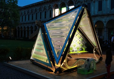Urban Algae Canopy generaría tanto oxígeno como un bosque