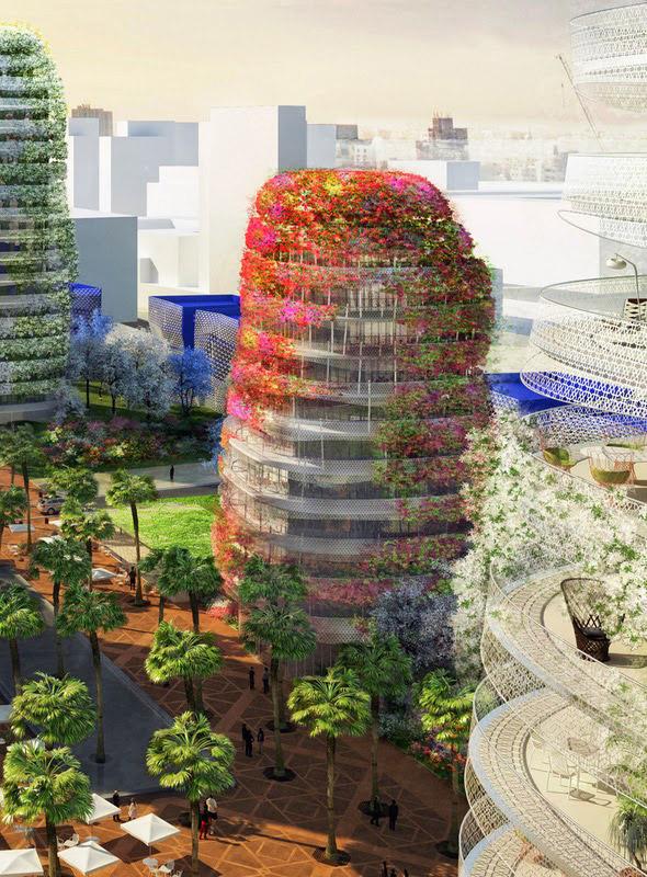 Las floridas torres de Gardens of Anfa