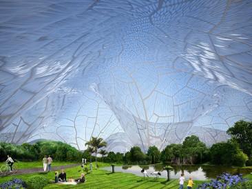 Burbujas gigantes de aire fresco para combatir la contaminación ambiental