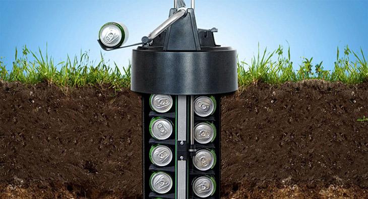 Un ecológico enfriador de cervezas subterráneo