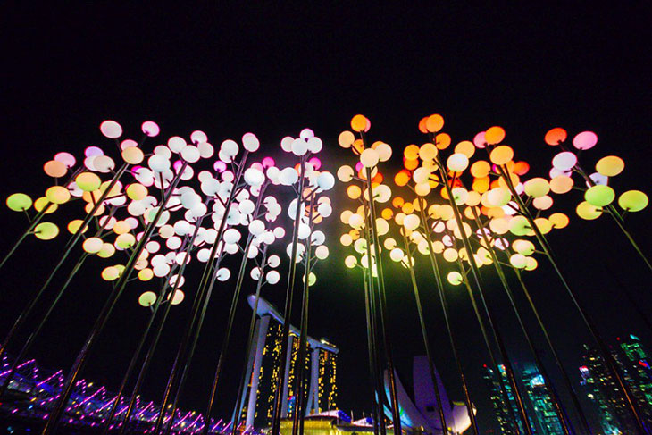 i Light Marina Bay: el festival sustentable de Singapur