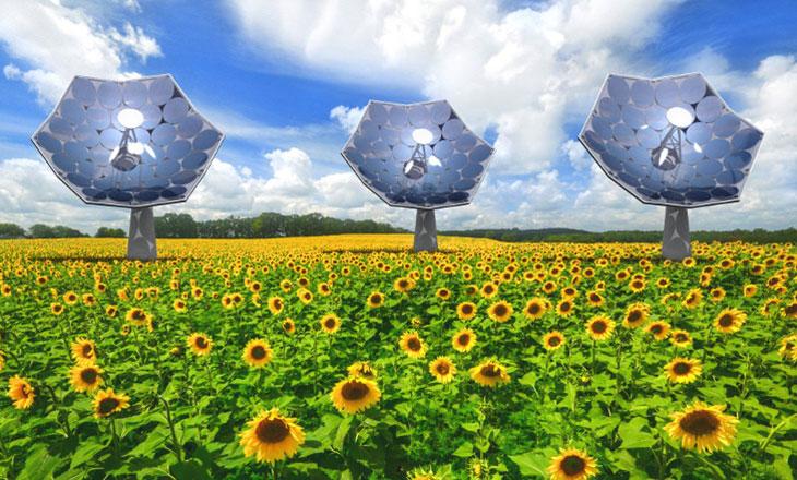 Sunflower, un generador para obtener energía solar y desalinizar agua