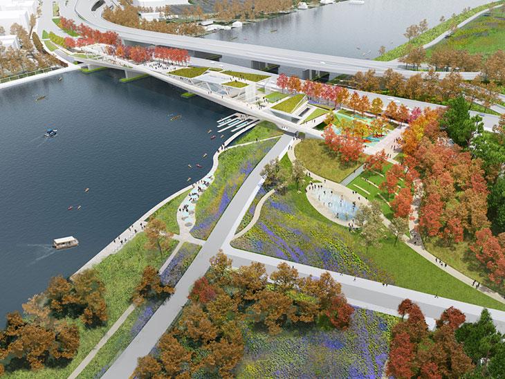 11th Street Bridge Park: de puente a parque colgante