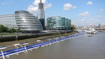 Londres planifica un carril flotante para bicicletas